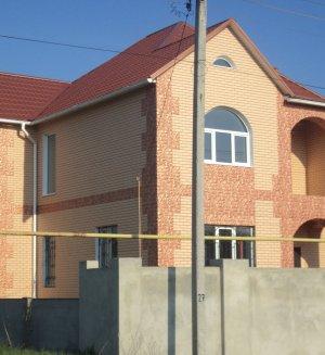 Placi termoizolante pe fațada casei brick 37
